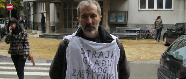 Србија: Новинар штрајкуваше со глад