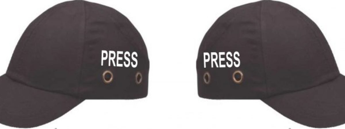Protective caps for journalist teams