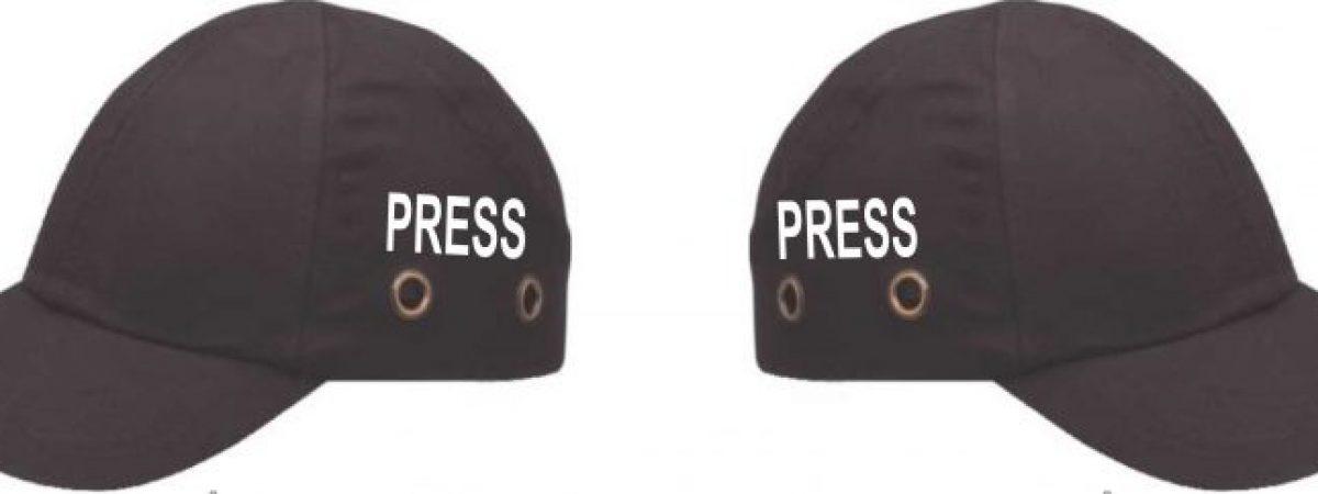 Заштитни капи за новинарските екипи